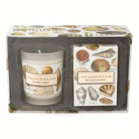 Seashells Soap and Candle Gift Set