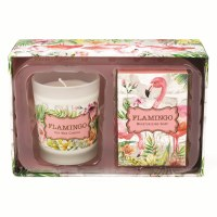 Flamingo Soap and Candle Gift Set