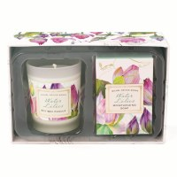 Water Lilies Soap and Candle Gift Set