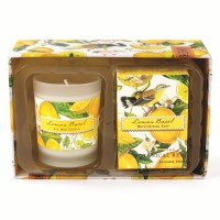 Lemon Basil Soap and Candle Gift Set