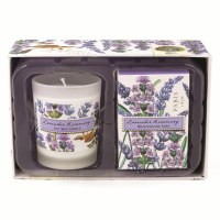 Lavender Rosemary Soap and Candle Gift Set