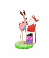 Naples Santa With Flamingo Ornament
