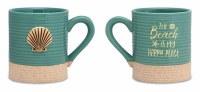15 Oz Scallop With Sandy Mug