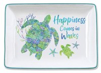 "3.5"" x 5"" Happiness Comes In Waves Tray"