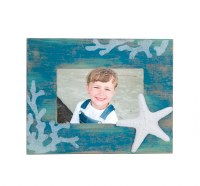 "4"" x 6"" Starfish On Blue Picture Frame"
