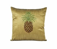 "16"" Square Green Pineapple Pillow"