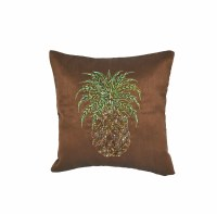 """10"""" Square Brown Pineapple Pillow"""