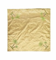 """40"""" Square Green Palm Table Topper"""