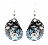 Blue Snail Shell Earrings