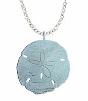 "18"" Ligt Aqua Sand Dollar Necklace"