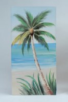 "47"" Palm Facing Left Canvas"