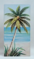 """47"""" Palm Facing Right Canvas"""