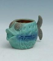"""4"""" Multicolored Fish Pot"""