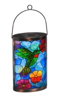 "14"" LED Solar Hummingbird Lantern"