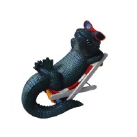 """12"""" Polystone Gator In Lawn Chair"""