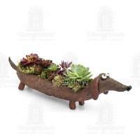 "12"" Rufus The Dachshund Planter"