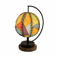 "17"" Multicolored Pendulum Shade Table Lamp"