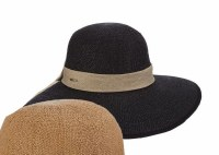 """4.5"""" Black Face Saver Hat"""