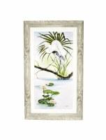 """50"""" x 30"""" White Heron Dragonfly Gel Framed"""