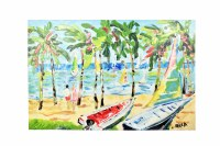 """40"""" x 60"""" Two Boats Palm Beach Canvas"""