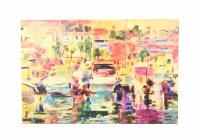 "40"" x 60"" Orange Marina Canvas"