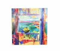"""48"""" Square Multicolor Balcony View Canvas"""