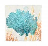 """24"""" Square Blue Sea Fan Canvas"""