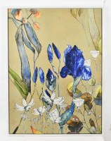 "48"" x 36"" Blue Iris Framed Canvas"