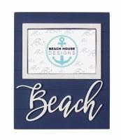 "4"" x 6"" Navy and White Beach Frame"