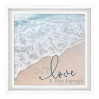 "21"" Square Love and The Beach Plaque"