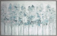 "38"" x 62"" Blue Trees Framed Canvas"