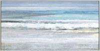 "32"" x 62"" Blue and Gray Seashore Framed Canvas"