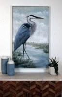 """30"""" x 48"""" Blue Heron On Framed Canvas"""