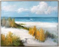 """40"""" x 46"""" Beach Dunes On Framed Canvas"""