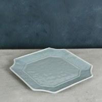 "12"" Square Blue and White Charleston Platter"
