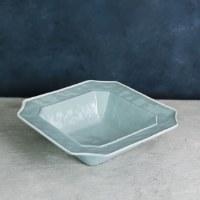 "12"" Square Blue and White Charleston Bowl"