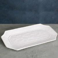 "9"" x 17"" White Charleston Platter"