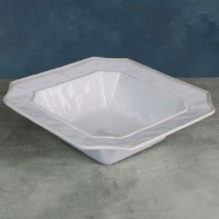 "12"" Square White Charleston Bowl"