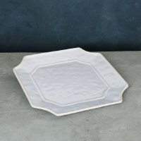 "12"" Square White Charleston Platter"