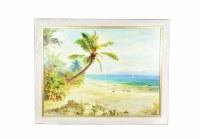 """43"""" x 55"""" Beach Palm Canvas Framed"""