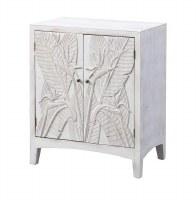"""24"""" Antique White Finish 2 Leaf Door Cabinet"""