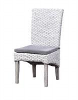"""20"""" White Woven Chair"""