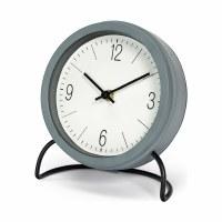 """7"""" Round Gray Clock"""
