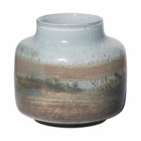 """9"""" Blue and Brown Glass Vase"""
