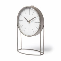 "12"" Silver Clock On Stand"
