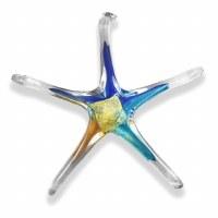 "7"" Glass Starfish Assorted Suncatcher"