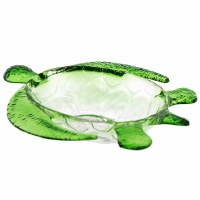 """11"""" Green and Clear Plastic Turtle Bowl"""