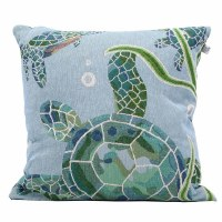"16"" Blue Sea Turtle Pillow"