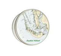 "4.5"" Round Sanibel Chart Tin"