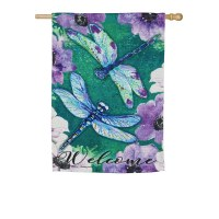 "29"" x 43"" Dragonfly Welcome Garden Flag"